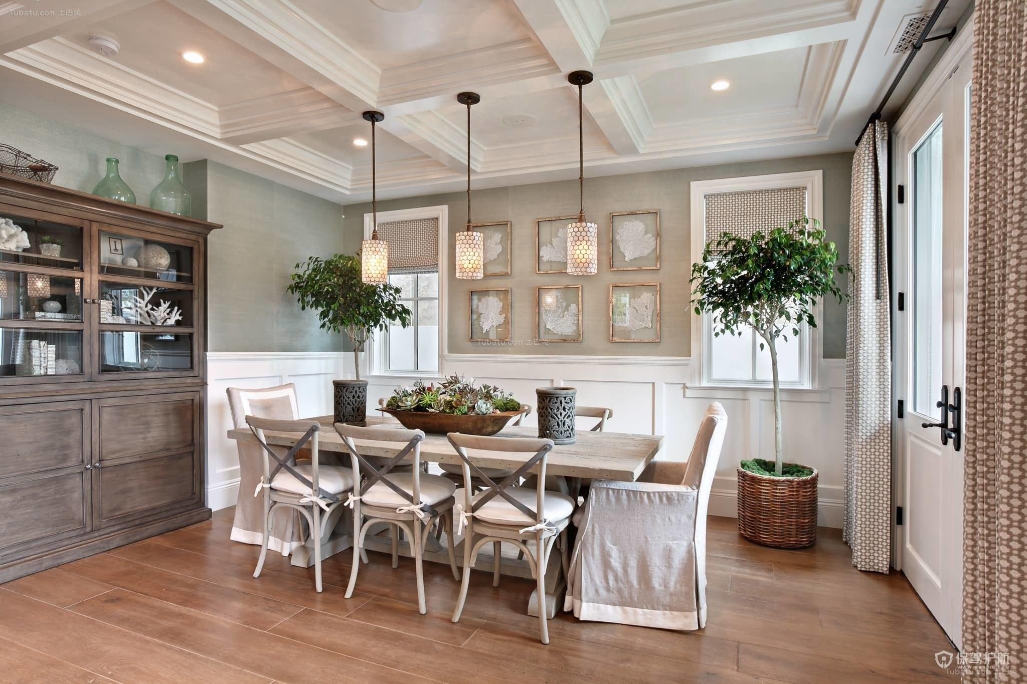 優雅美式三居室餐廳裝修效果圖