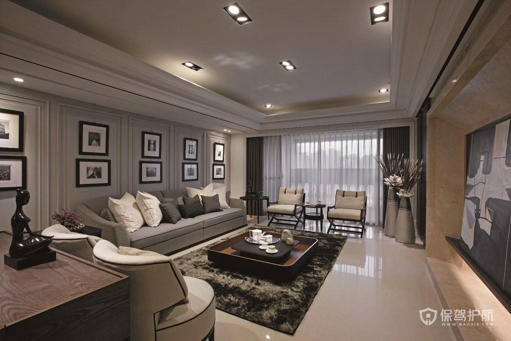 現代風格三居室客廳裝修效果圖
