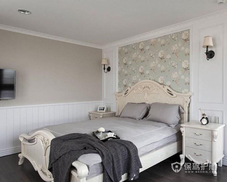 卧室美式三层实木床头柜亚搏体育平台app效果图