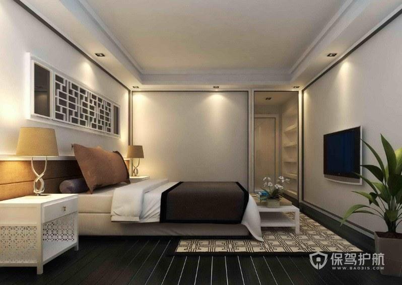 卧室实木镂空雕刻床头柜亚搏体育平台app效果图