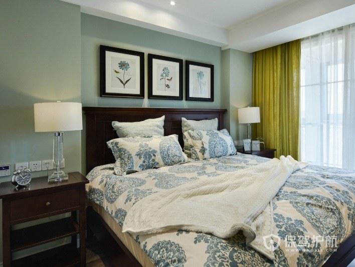 卧室新中式实木床头柜亚搏体育平台app效果图