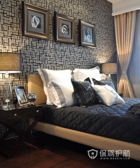 古典卧室实木折叠床头柜亚搏体育平台app效果图
