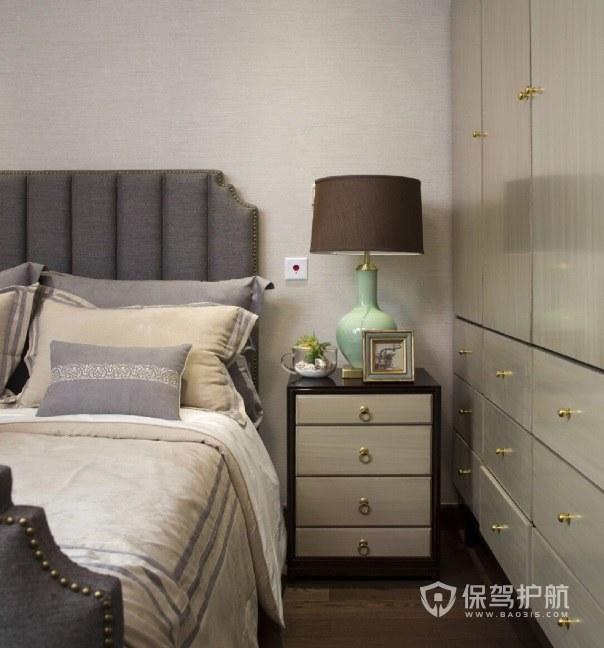 卧室四层实木床头柜亚搏体育平台app效果图
