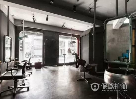 10平米工业风格美发廊装修实景图