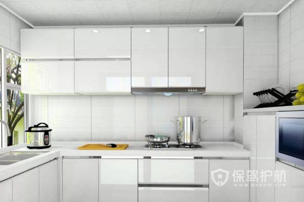 白色調整體櫥柜效果圖-保駕護航裝修網