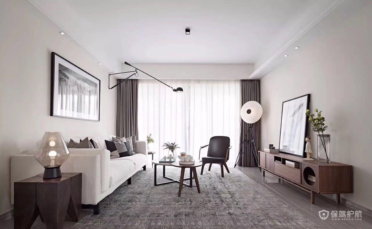 北歐風二居室客廳裝修效果圖