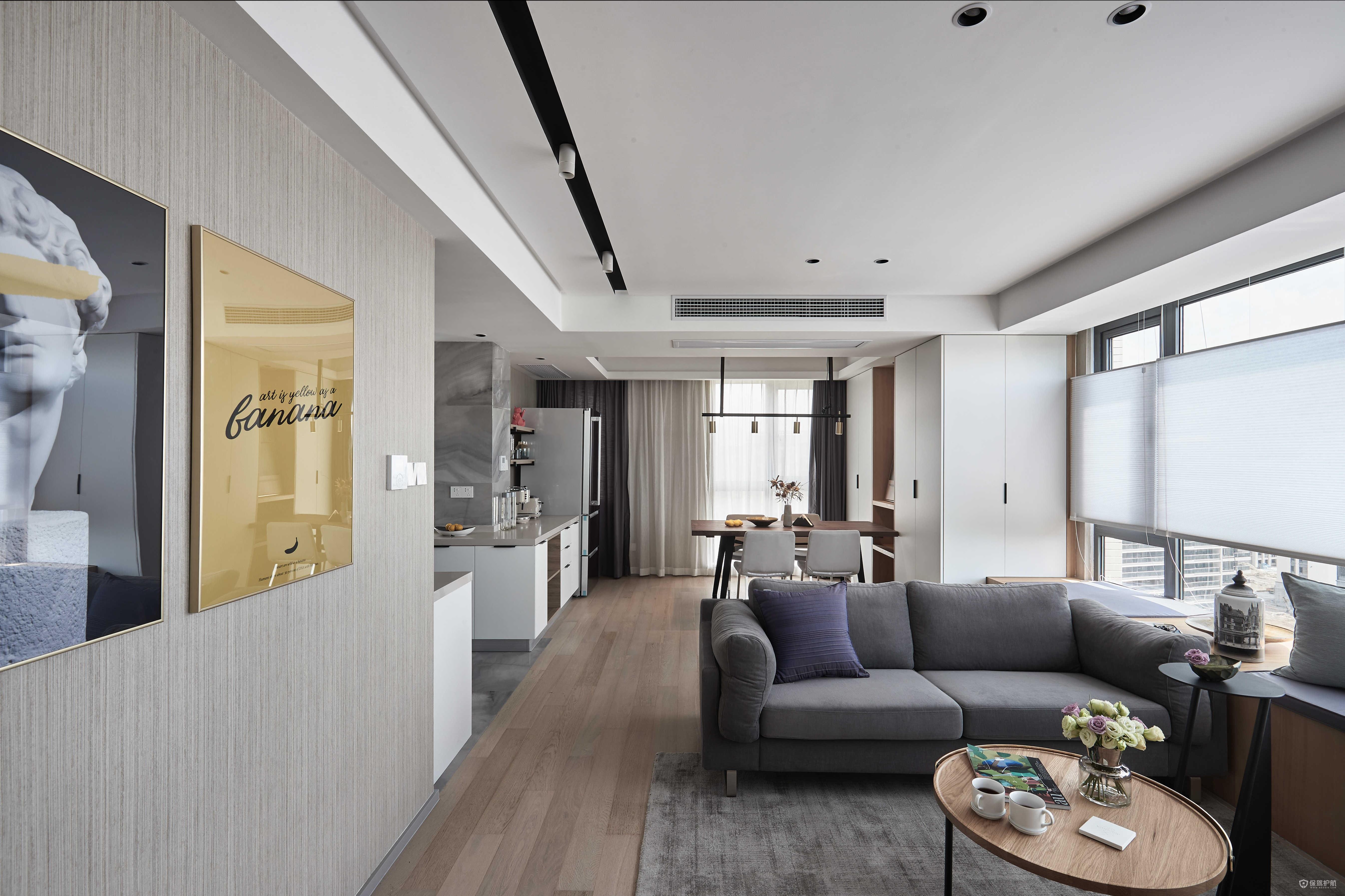 現代風格二居室客廳裝修效果圖
