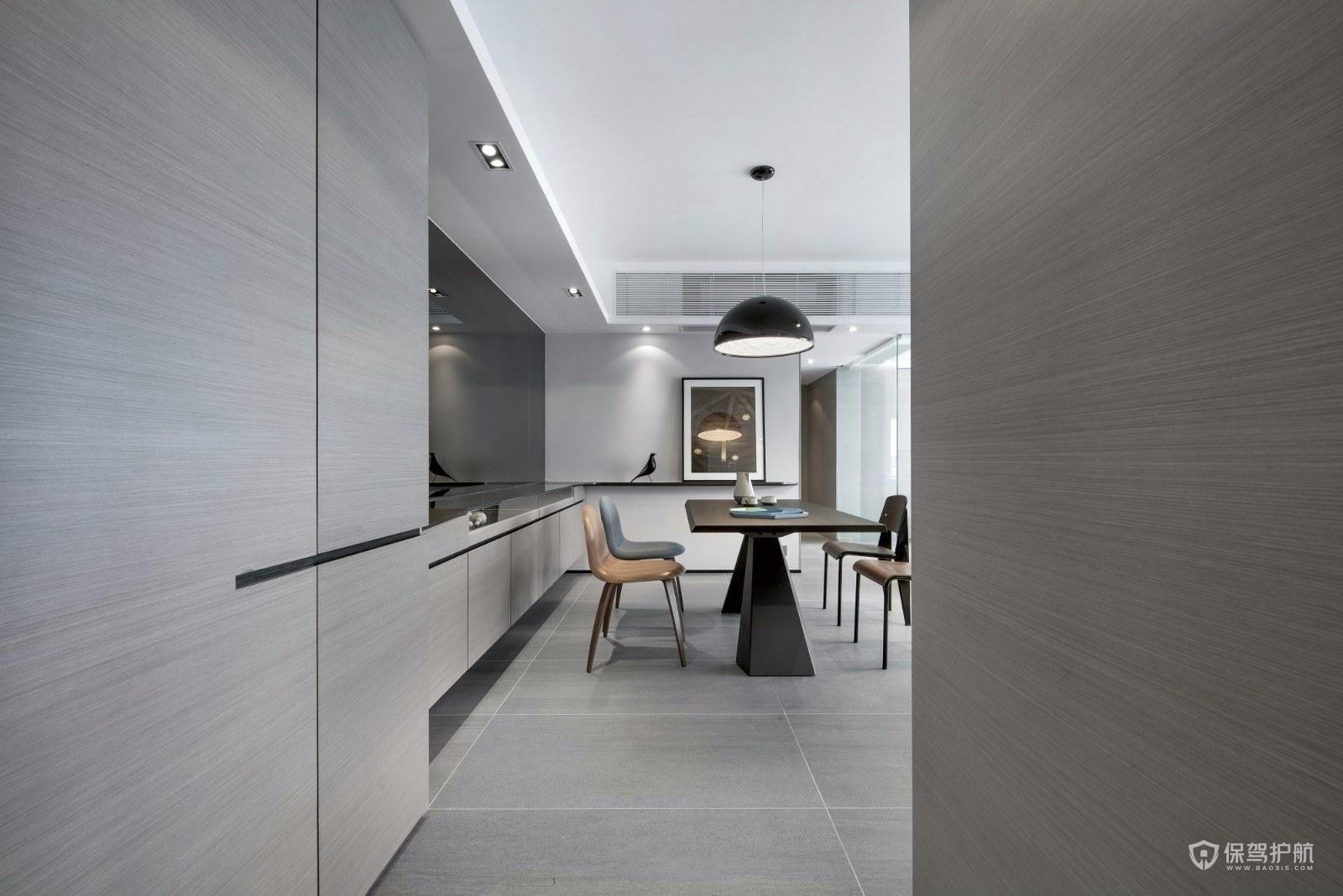 110平極簡風三居室餐廳裝修效果圖