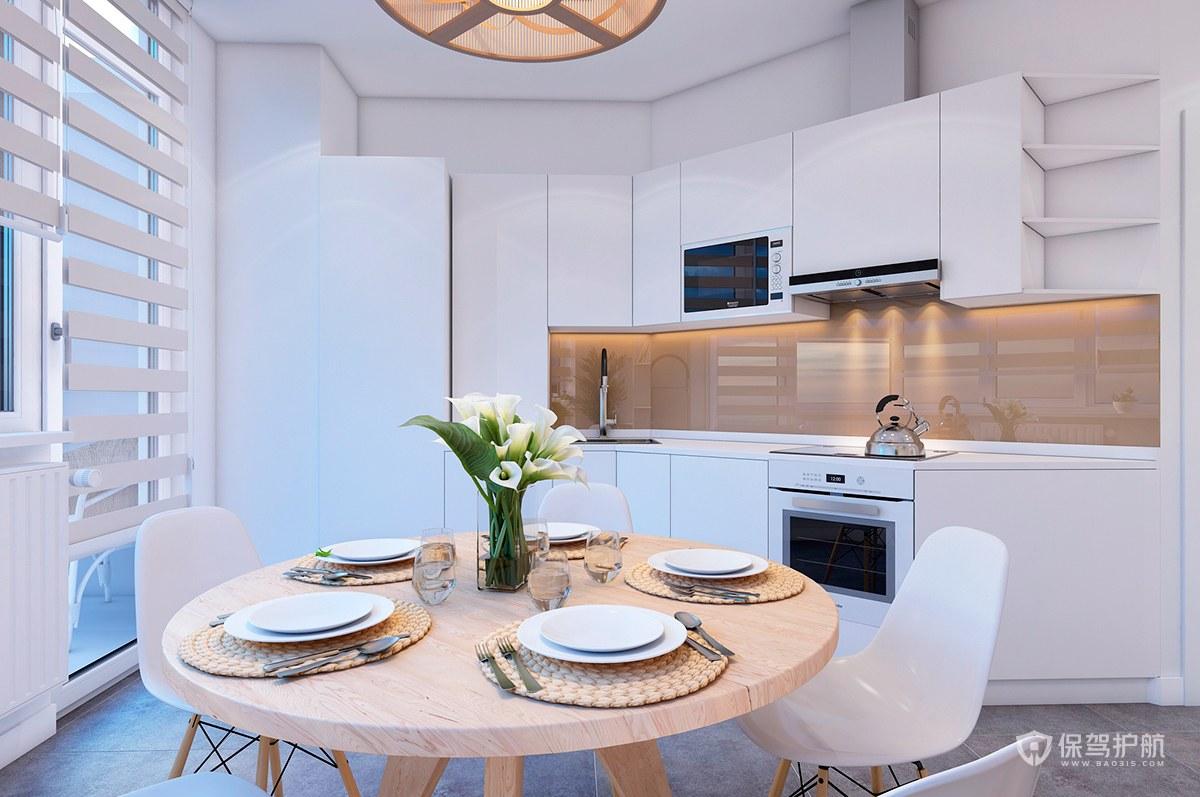 現代簡約風公寓廚房裝修效果圖
