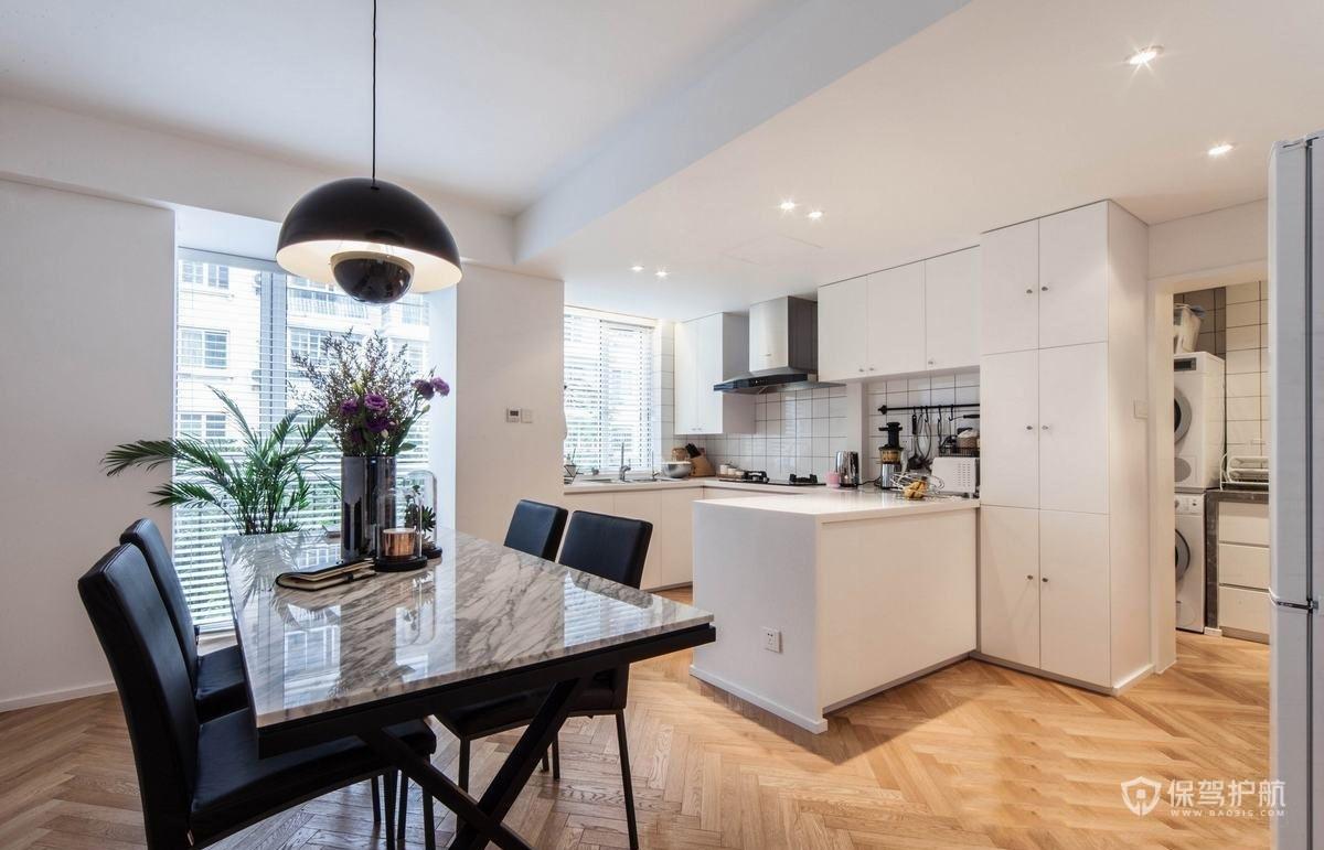 90平公寓北欧风餐厅餐桌装修效果图