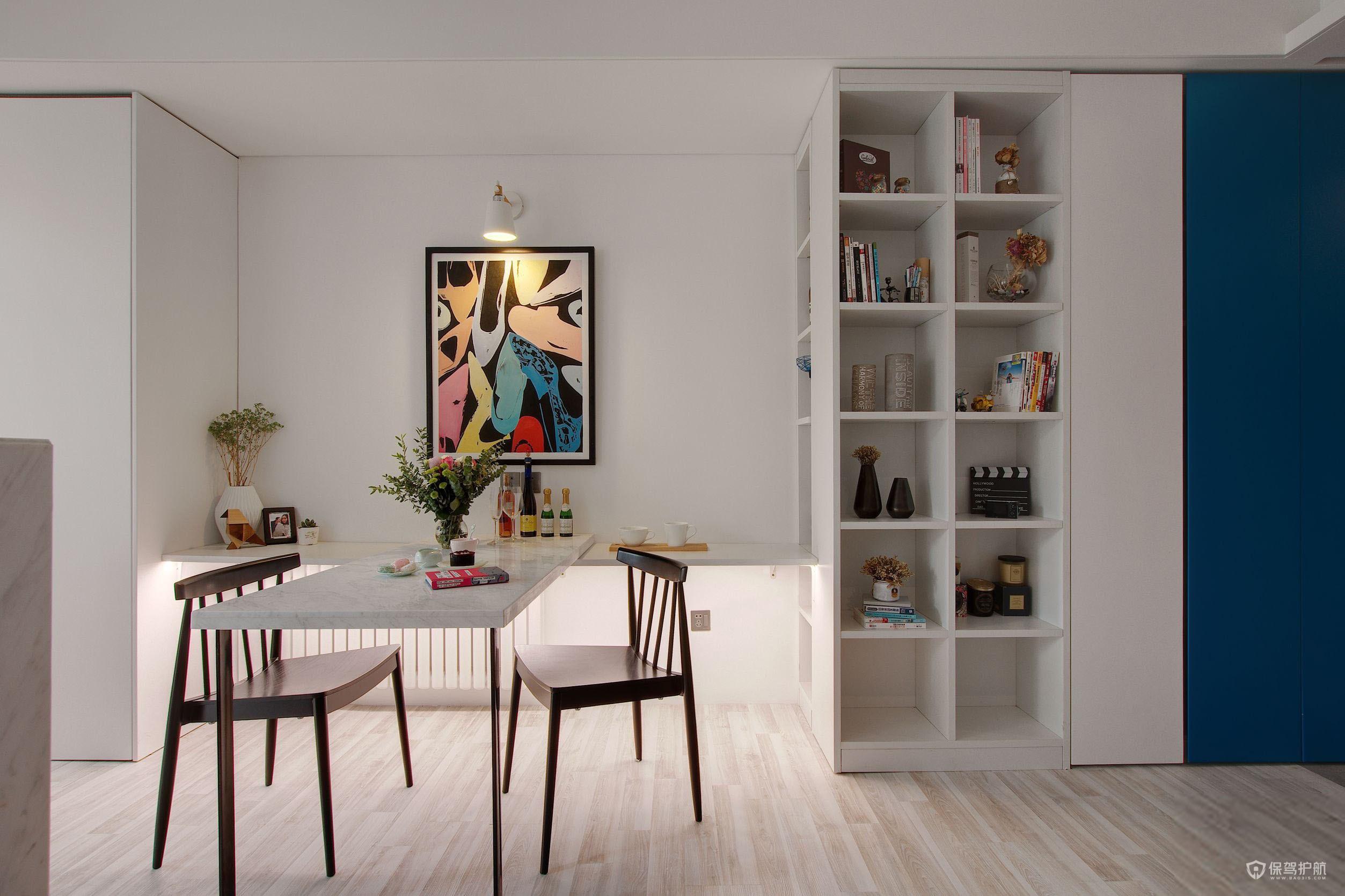 50平北欧风单身公寓餐厅装修效果图