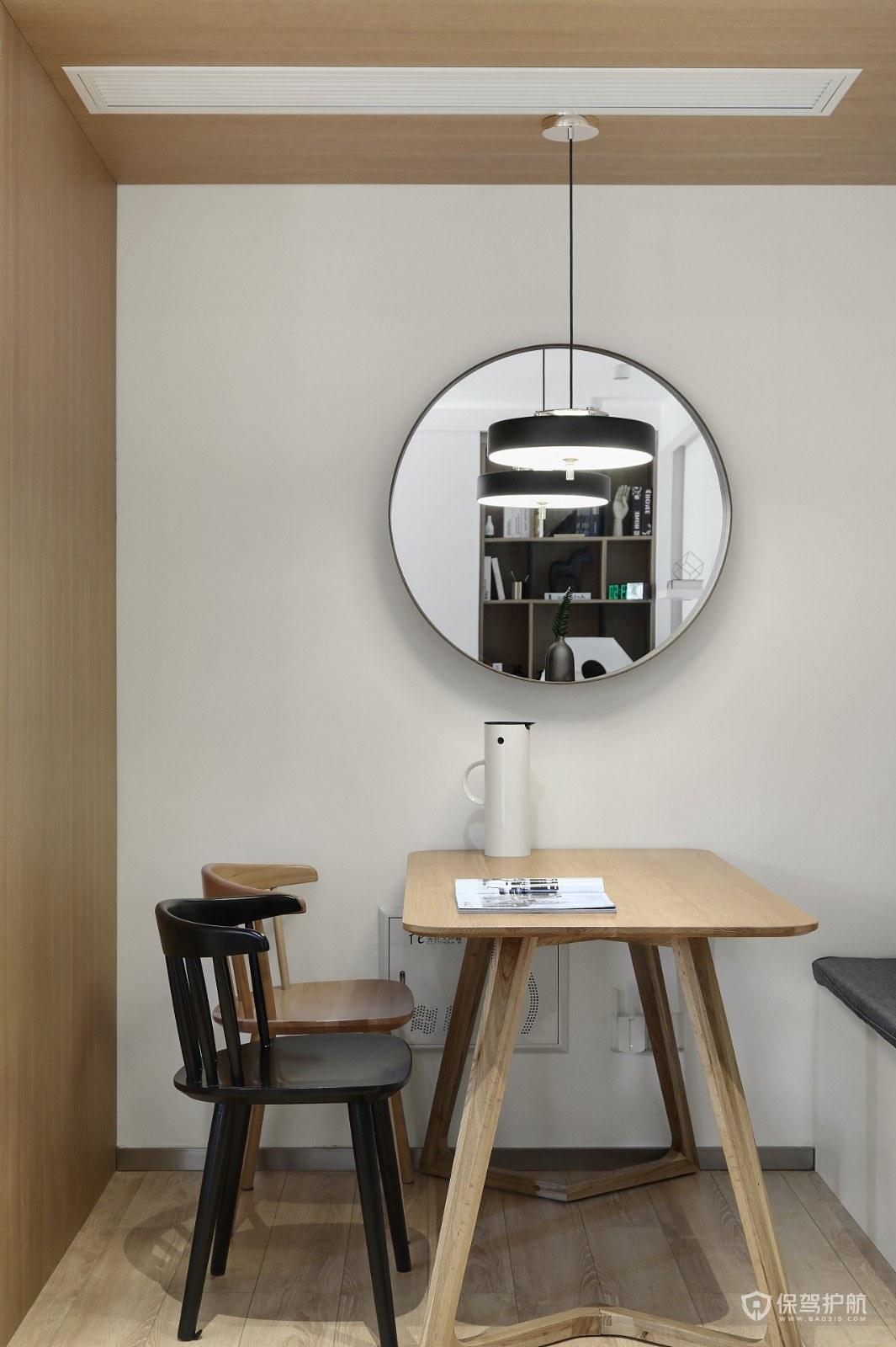 二居室简约原木风餐厅装修效果图