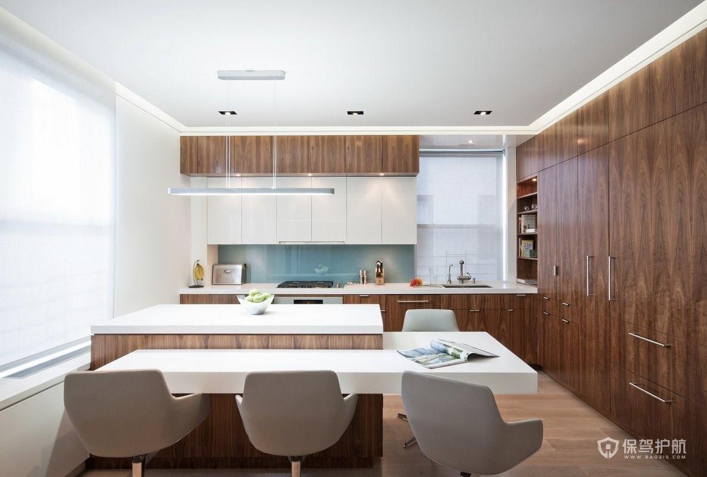 簡約原木風二居室廚房裝修效果圖