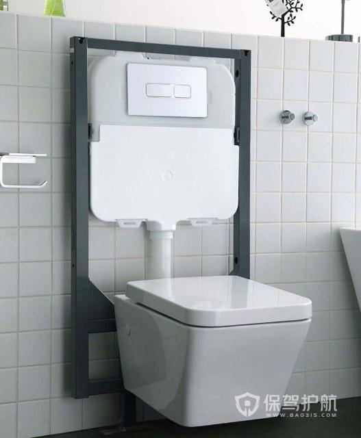 8平米衛生間掛墻式馬桶裝修效果圖