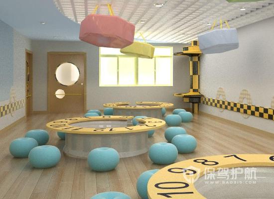55平米簡約風格幼兒園裝修實景圖