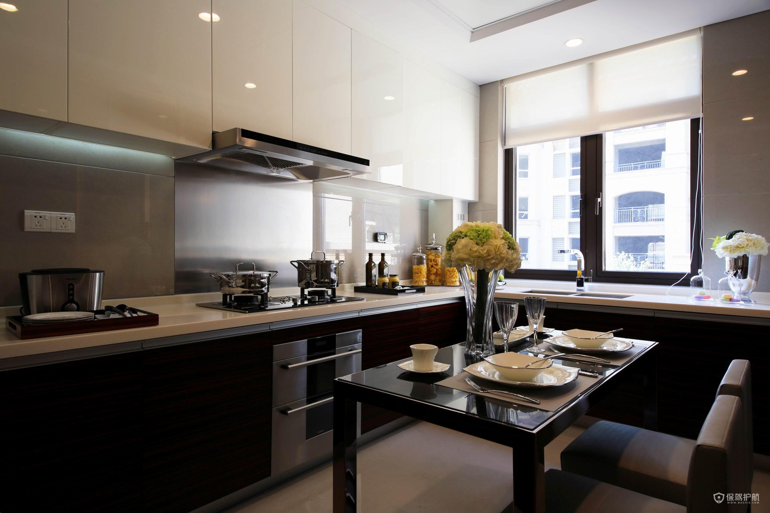 現代風格公寓廚房裝修效果圖