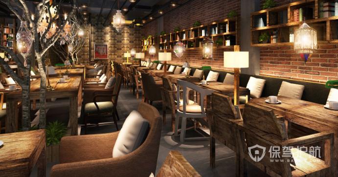 50平米欧式风格咖啡厅装修效果图