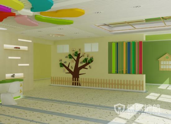 72平米簡約風格幼兒園裝修實景圖