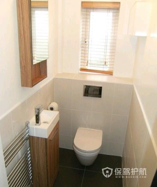 3平米卫生间挂墙式马桶装修效果图