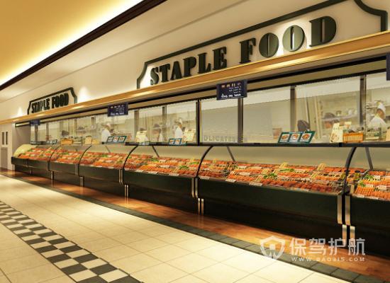 142平米简约风格超市装修实景图