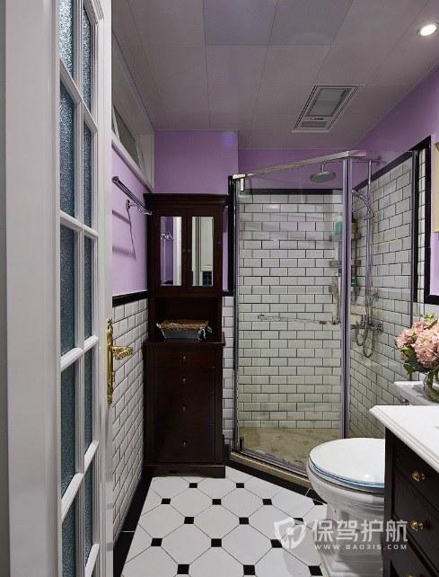 时尚复古风卫生间淋浴房安装效果图