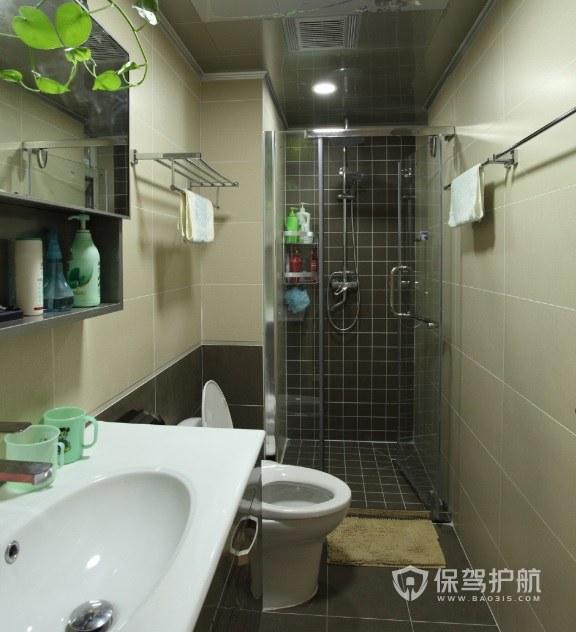 长方形卫生间淋浴房安装效果图