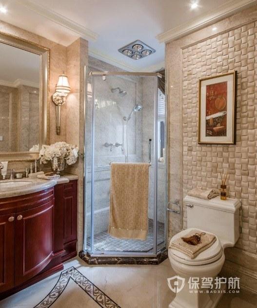 英式古典风卫生间淋浴房安装效果图