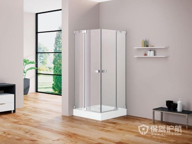 卫生间正方形淋浴房安装效果图