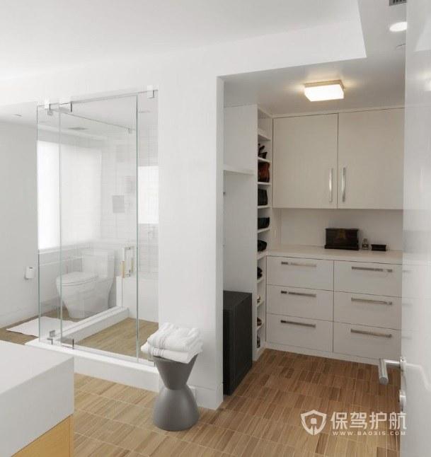 日式公寓卫生间淋浴房安装效果图