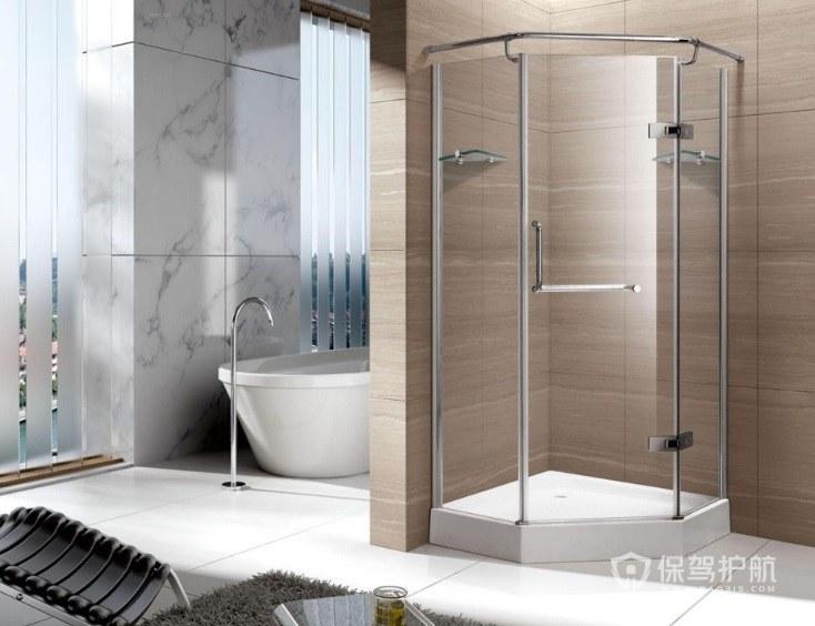 简欧风卫生间淋浴房安装效果图