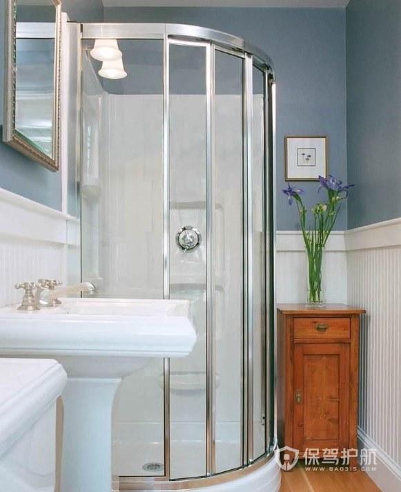 清新典雅风卫生间淋浴房安装效果图