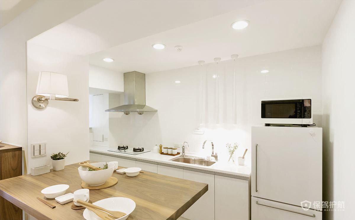 50平日式一居室厨房装修效果图