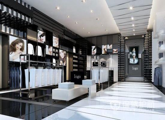45平米混搭风格服装店装修实景图