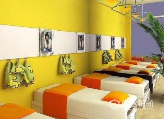 53平米现代风格美容院装修实景图