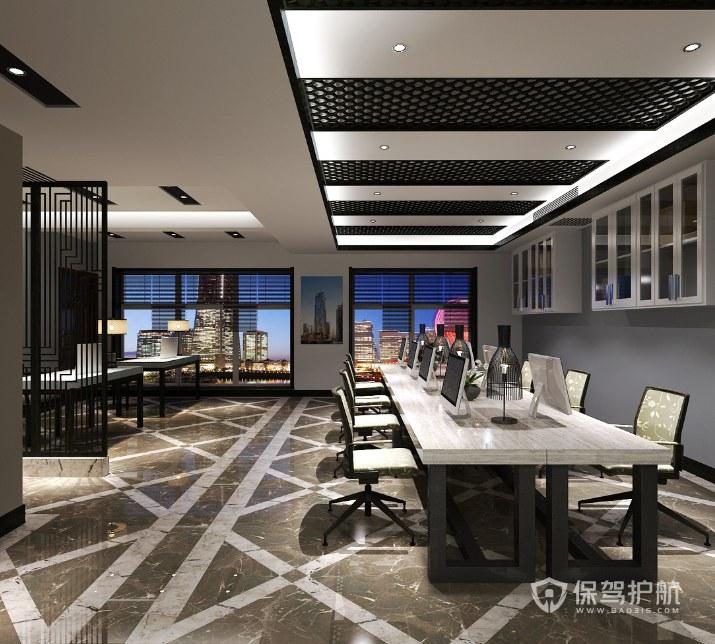 新中式古典风办公区装修效果图