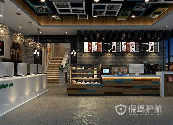 80平米现代风格网咖装修实景图