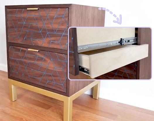 放在床头边的小柜子,小小家具居然是个柜中柜!