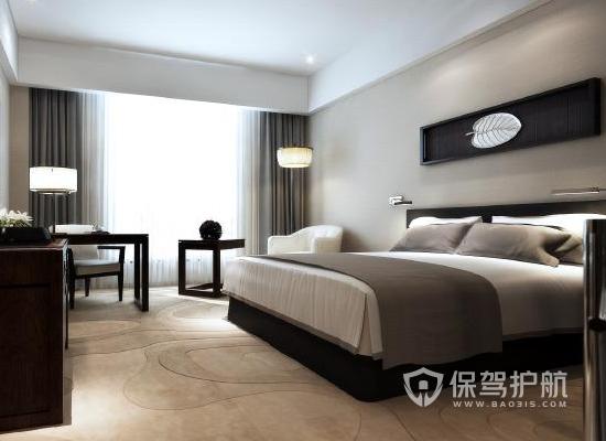 18平米新中式风格酒店装修实景图