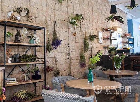 58平米简约风格咖啡厅装修实景图