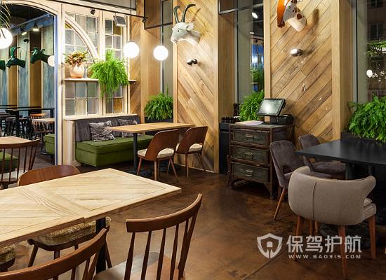 65平米简约风格咖啡厅装修实景图