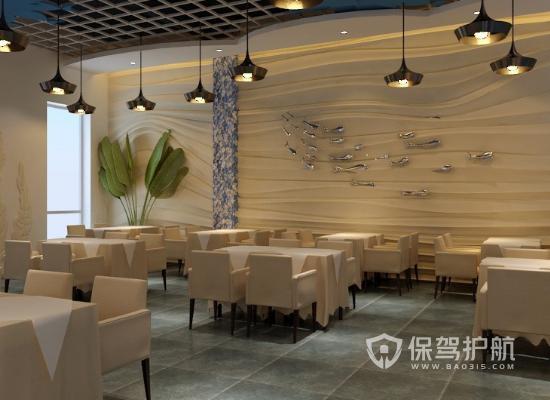 75平米现代简约咖啡厅装修效果图