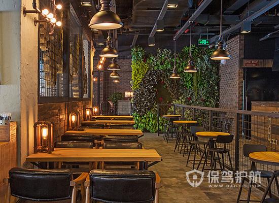46平米工业风格咖啡厅装修实景图