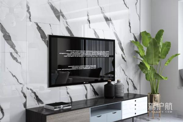 黑白灰风格电视墙用瓷砖好吗?适合黑白灰风格的电视墙图