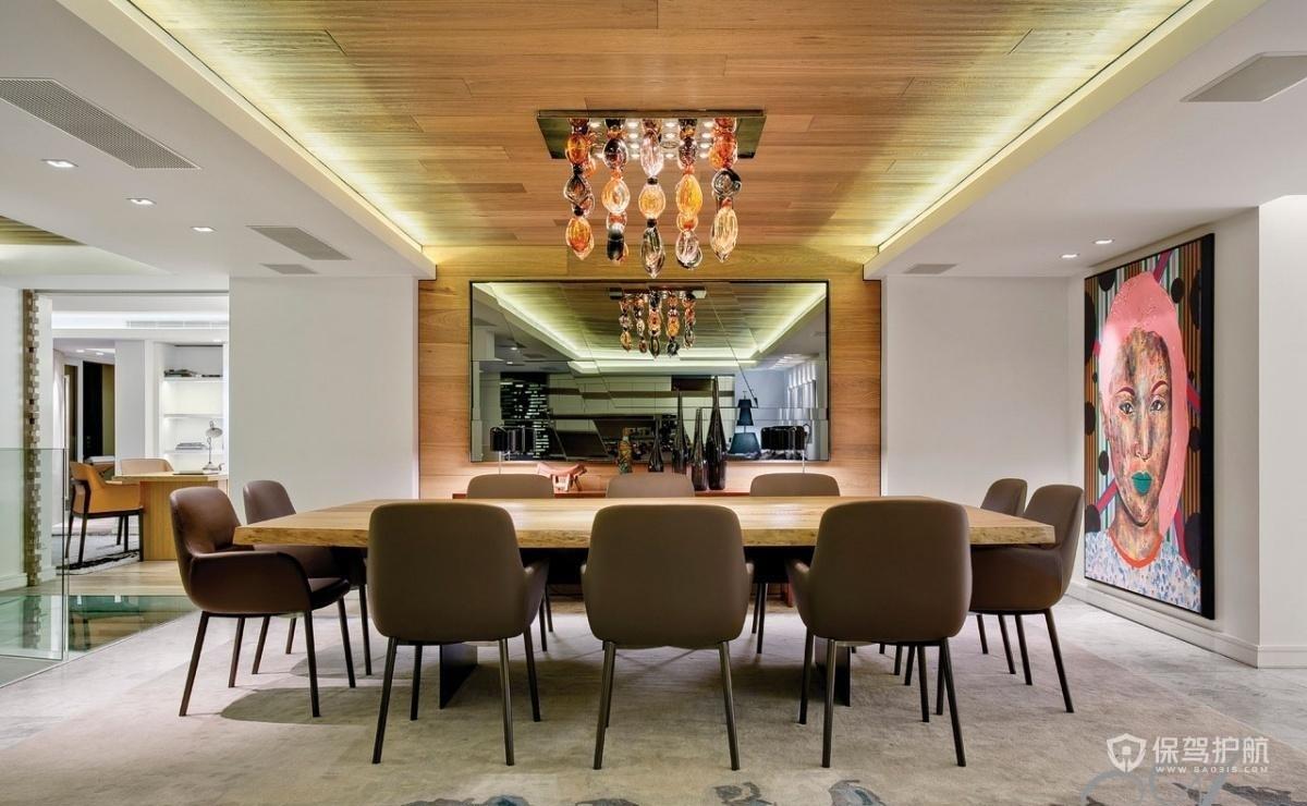 现代风格别墅餐厅吊顶装修效果图