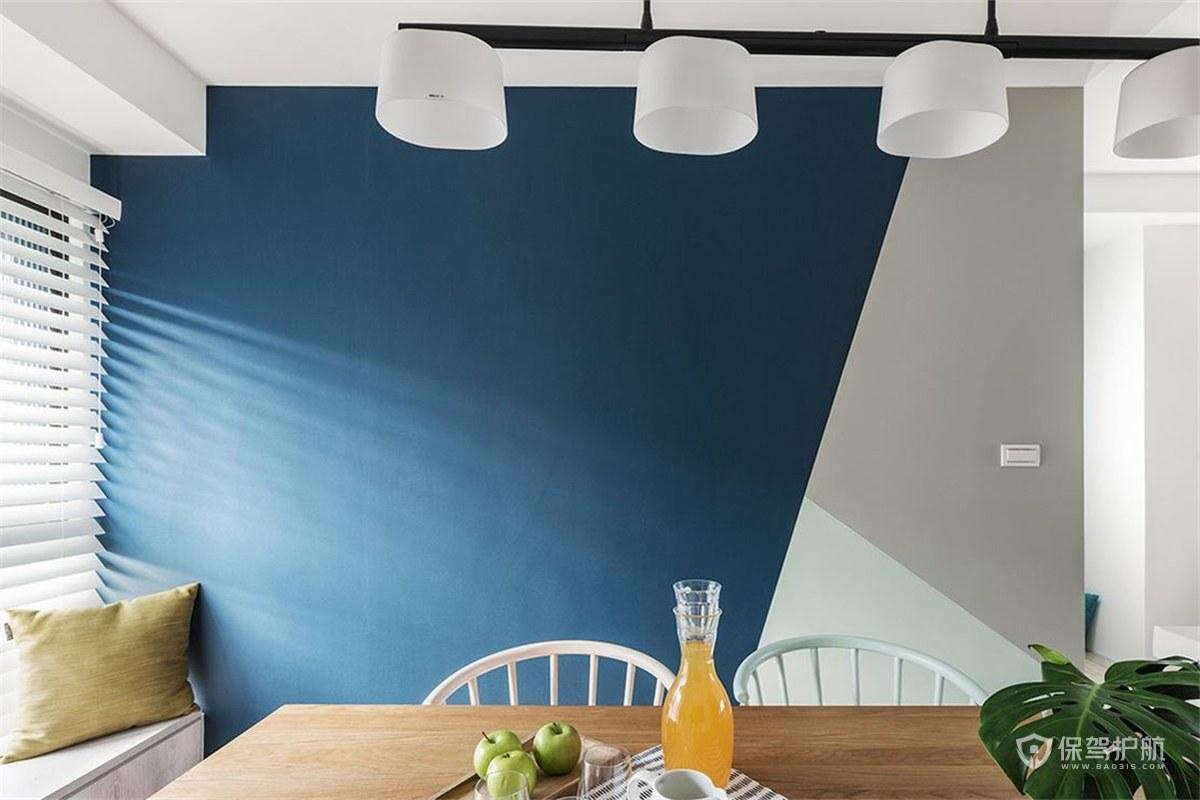 北欧风三居室餐厅乳胶漆背景墙亚搏体育平台app效…