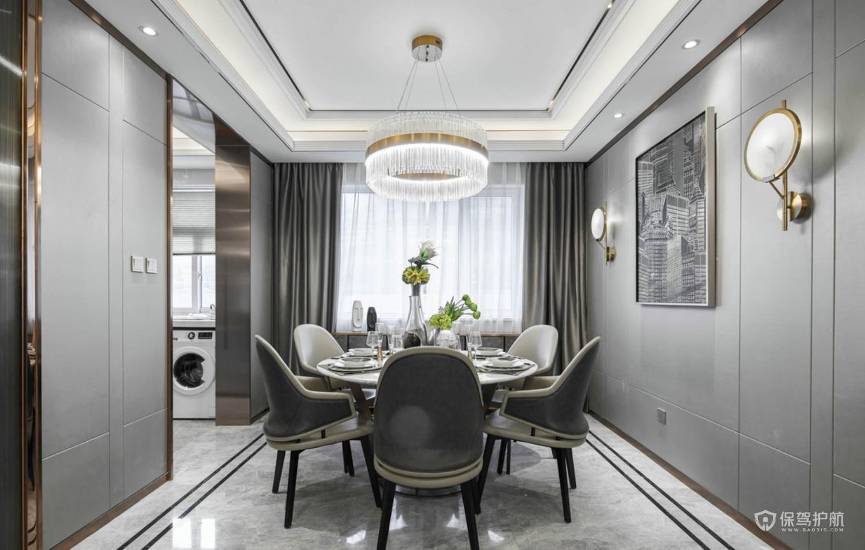 现代轻奢三居室餐厅装修效果图