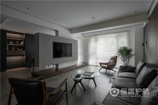 140平轻奢风四居室客厅装修效果图