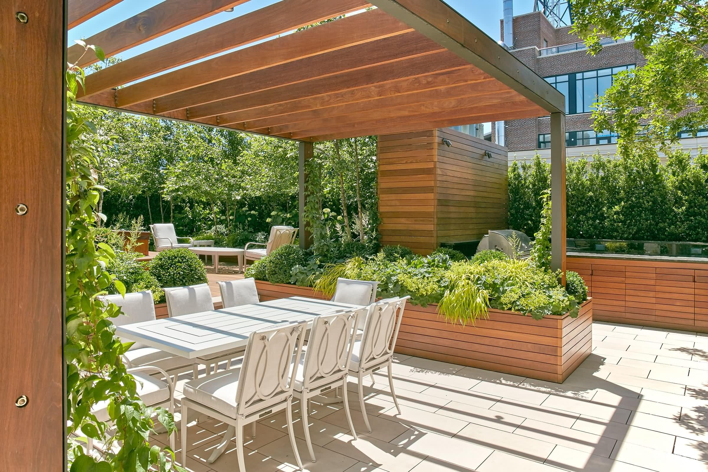 顶楼跃层露台花园图片:买顶楼跃层送露台不如就造一个屋顶花园