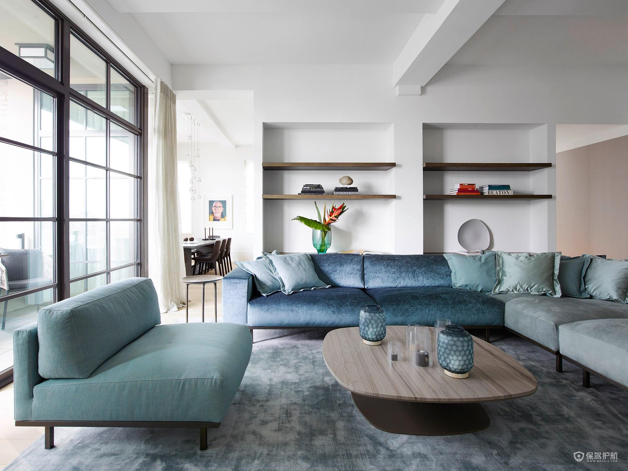 简约轻奢风四居室客厅沙发装修效果图