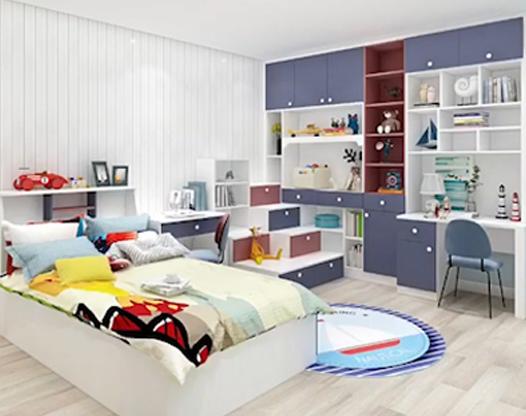 室内设计:儿童房多功能组合柜效果预览